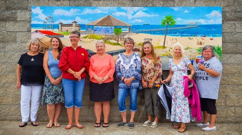 (photo taken by MeWha)  (Pictured left to right: Beth Tanner, Denise Elliot-Vernon, Cathy Lewis, Denise Titus, Helen Tierney, Lin Conaway, Mary Lou Vandenburg and Kathleen Reif)