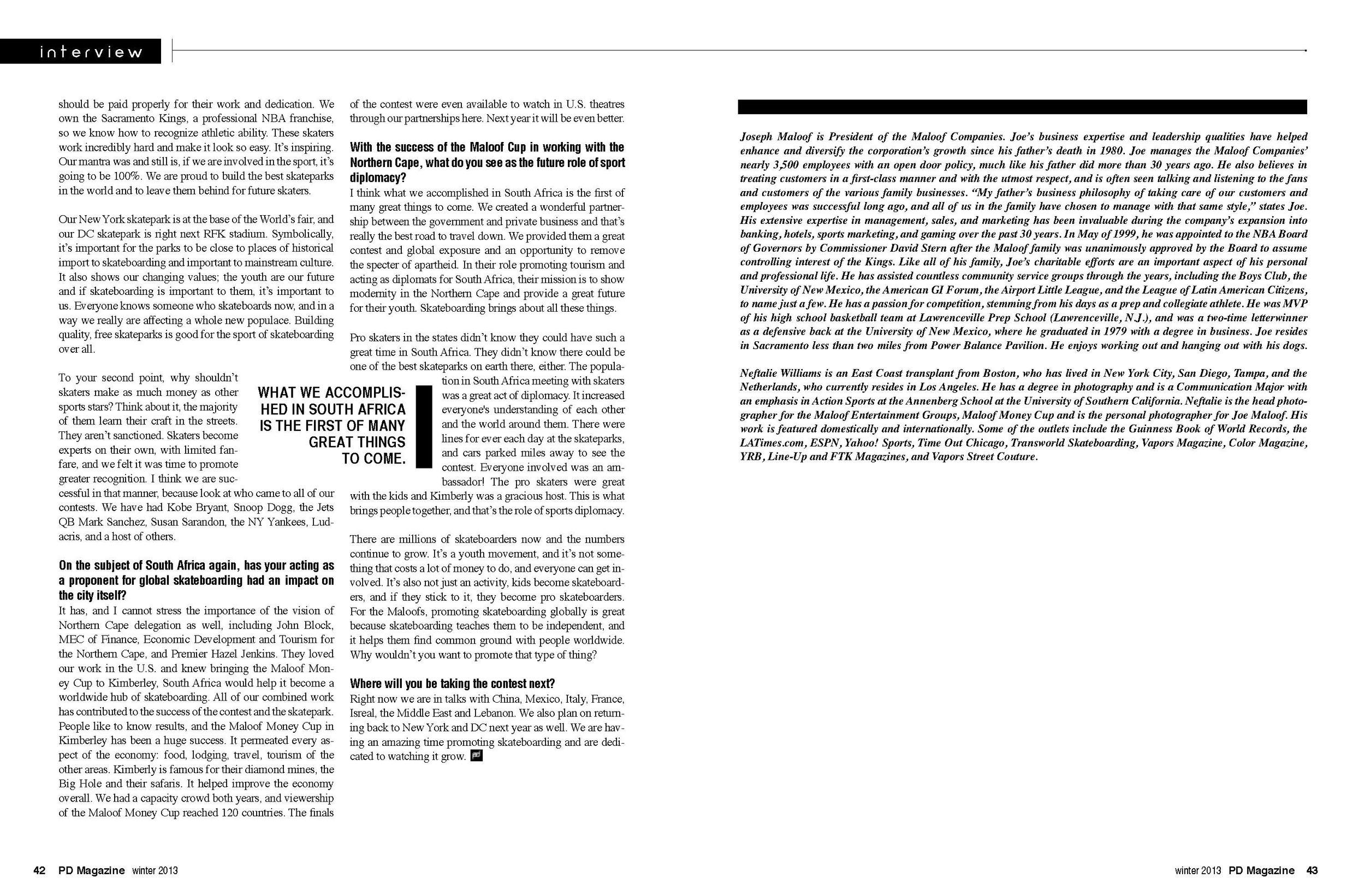 Joe Maloof Interview page 3