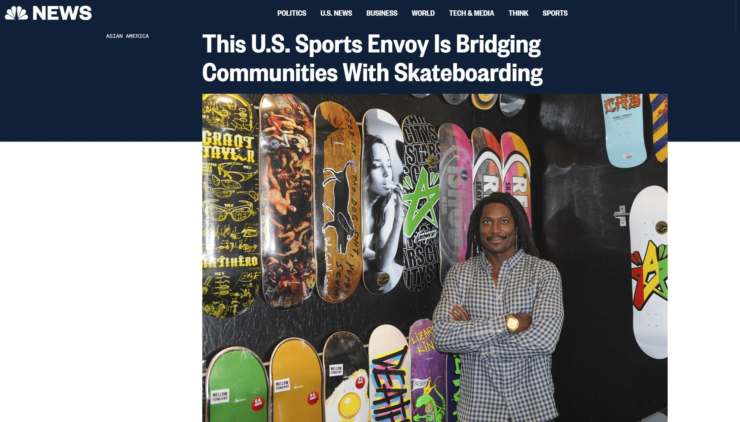 Neftalie Williams lectures at the University of Southern California and works with the U.S. State Department to bridge communities through skateboarding.Courtesy of Neftalie Williams