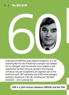 MiP NHS 60th pocket leaflet