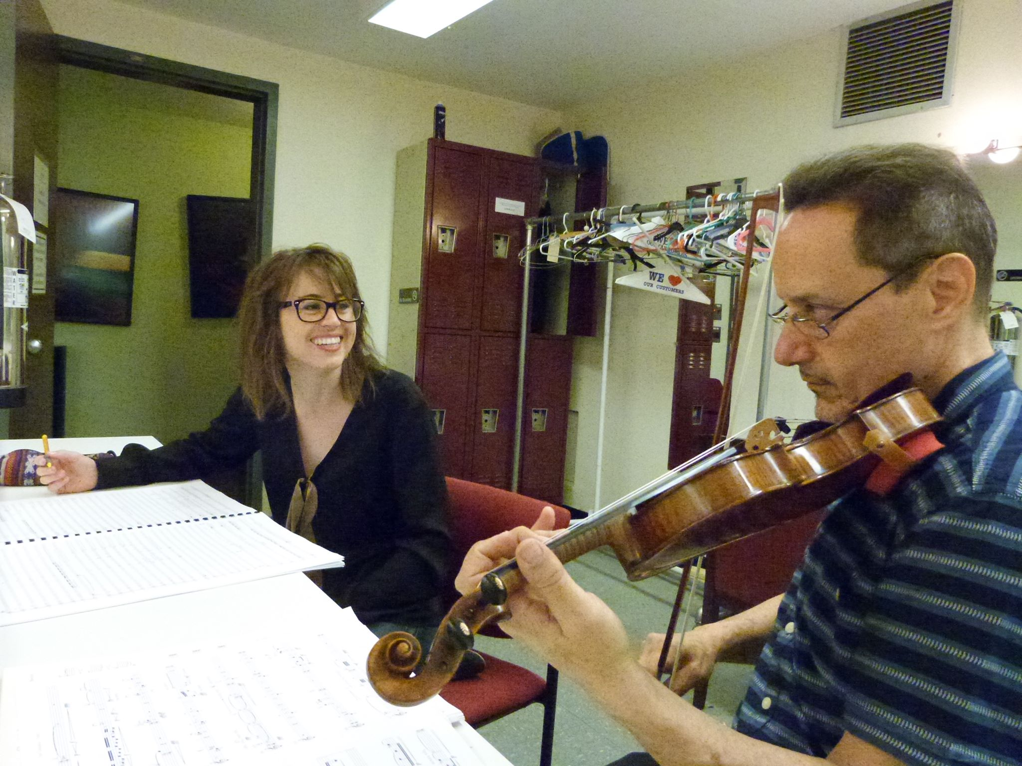 working with ACO's concertmaster Robert Chausow as part of the 25th annual Underwood New Music Readings