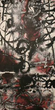 "Xu Demin   Untitled (Chinese Character 1), 2010   Ink on Paper  55"" X 28"""