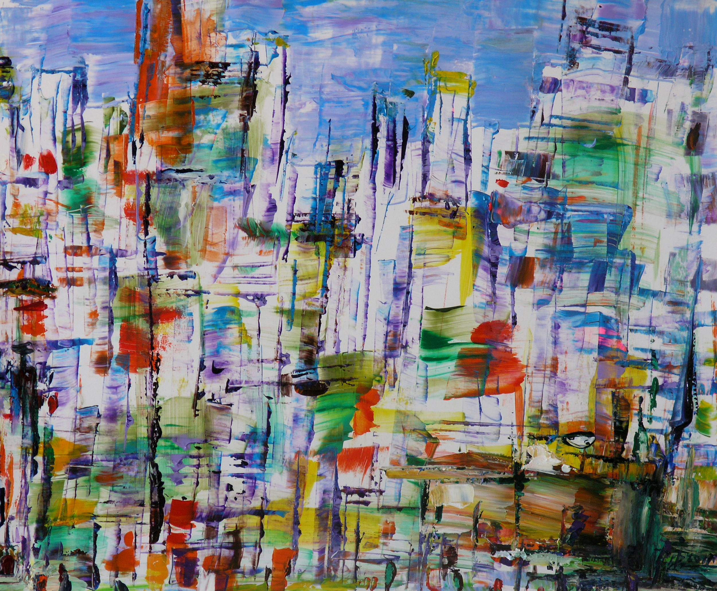 """Wei Kang  The City in My Heart 01, 2010  Acrylic on canvas  20"""" x 24"""""""