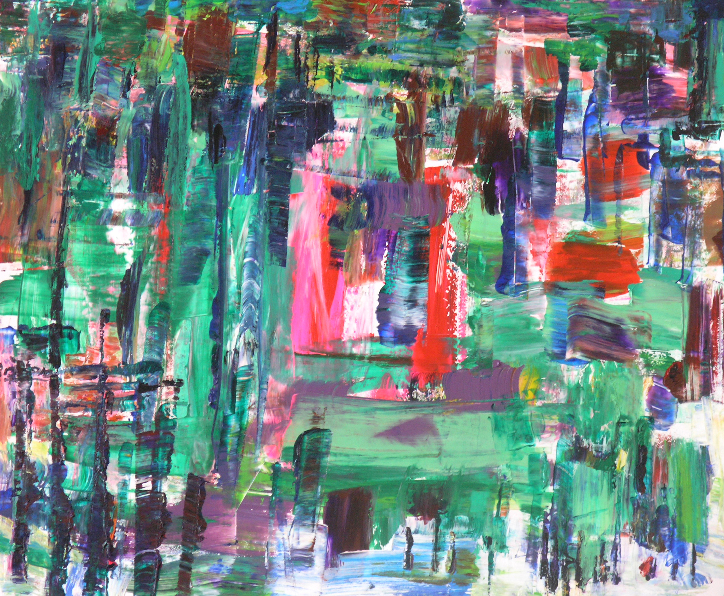 """Wei Kang  The City in My Heart 08, 2010  Acrylic on canvas  20"""" x 24"""""""
