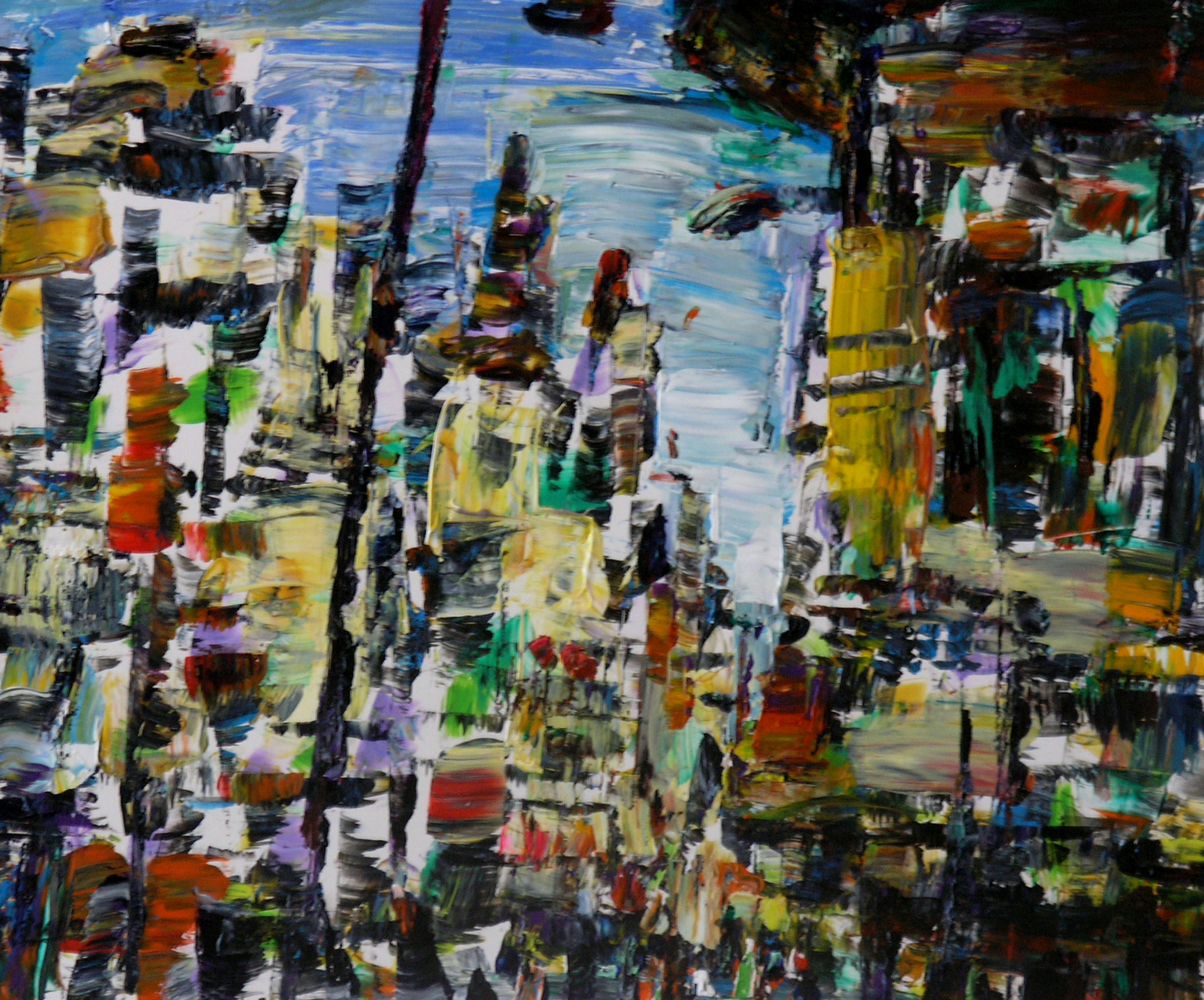 """Wei Kang  The City in My Heart 12, 2010  Acrylic on canvas  20"""" x 24"""""""