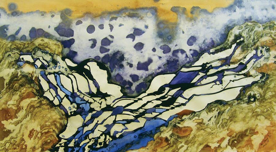 """Marlene Tseng Yu  Glacier Rapid Melting, 2006  Acrylic on paper  38"""" x 68"""""""