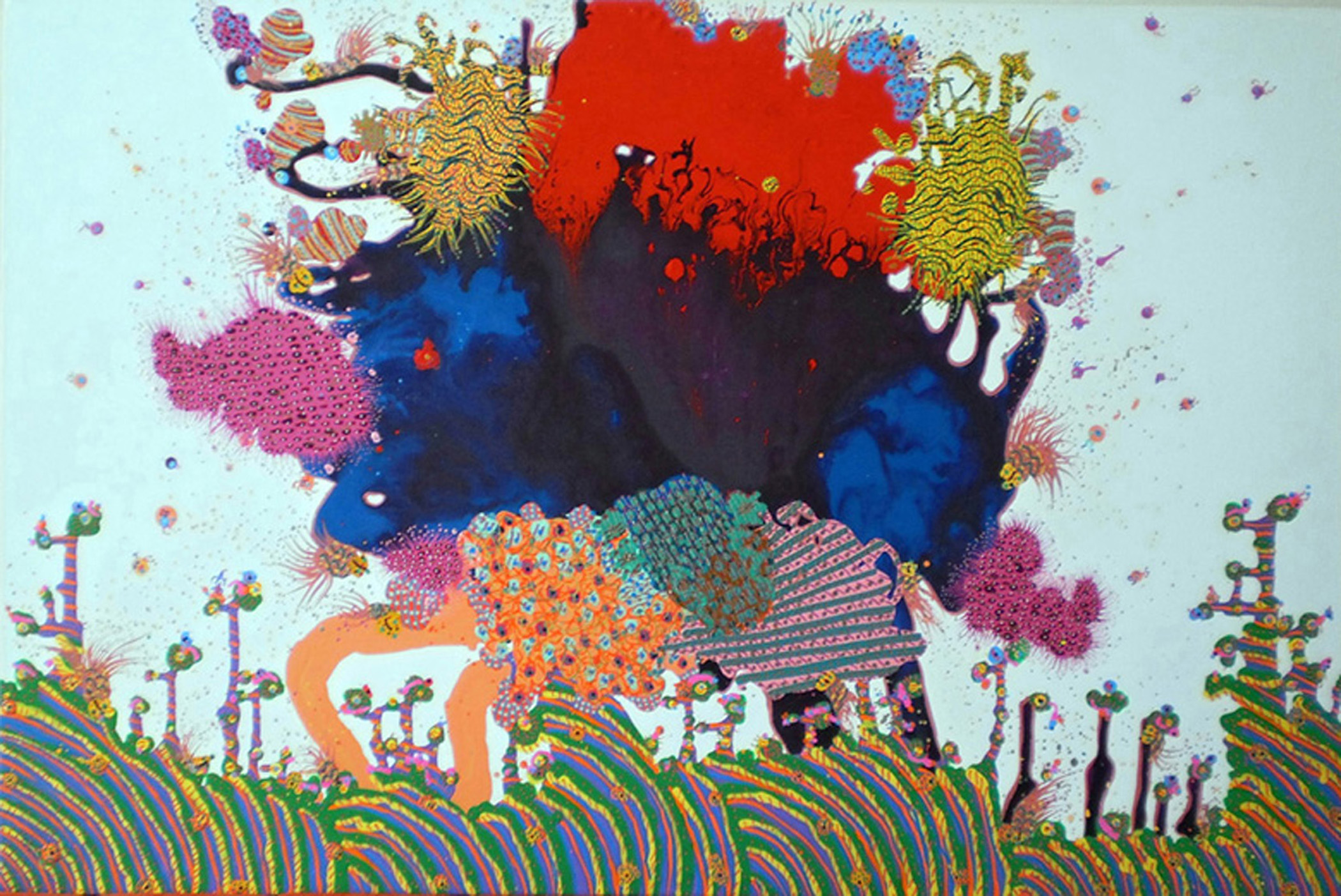 "Avani Patel  Love and Free, 2012  Acrylic on Canvas  24"" x 36"""