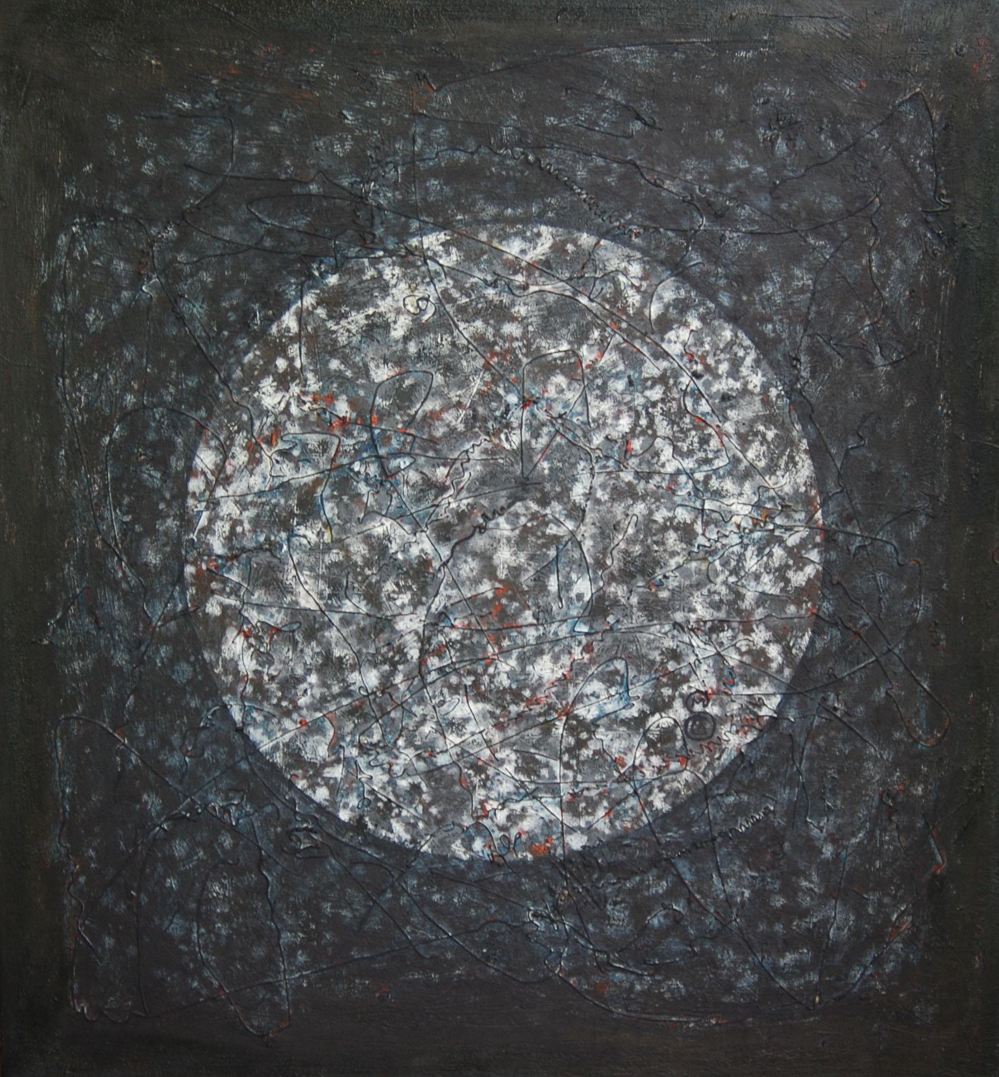 """Shanthi Chandrasekar  Phenomena- 2, 2013  Oil on Canvas  26"""" x 28"""""""