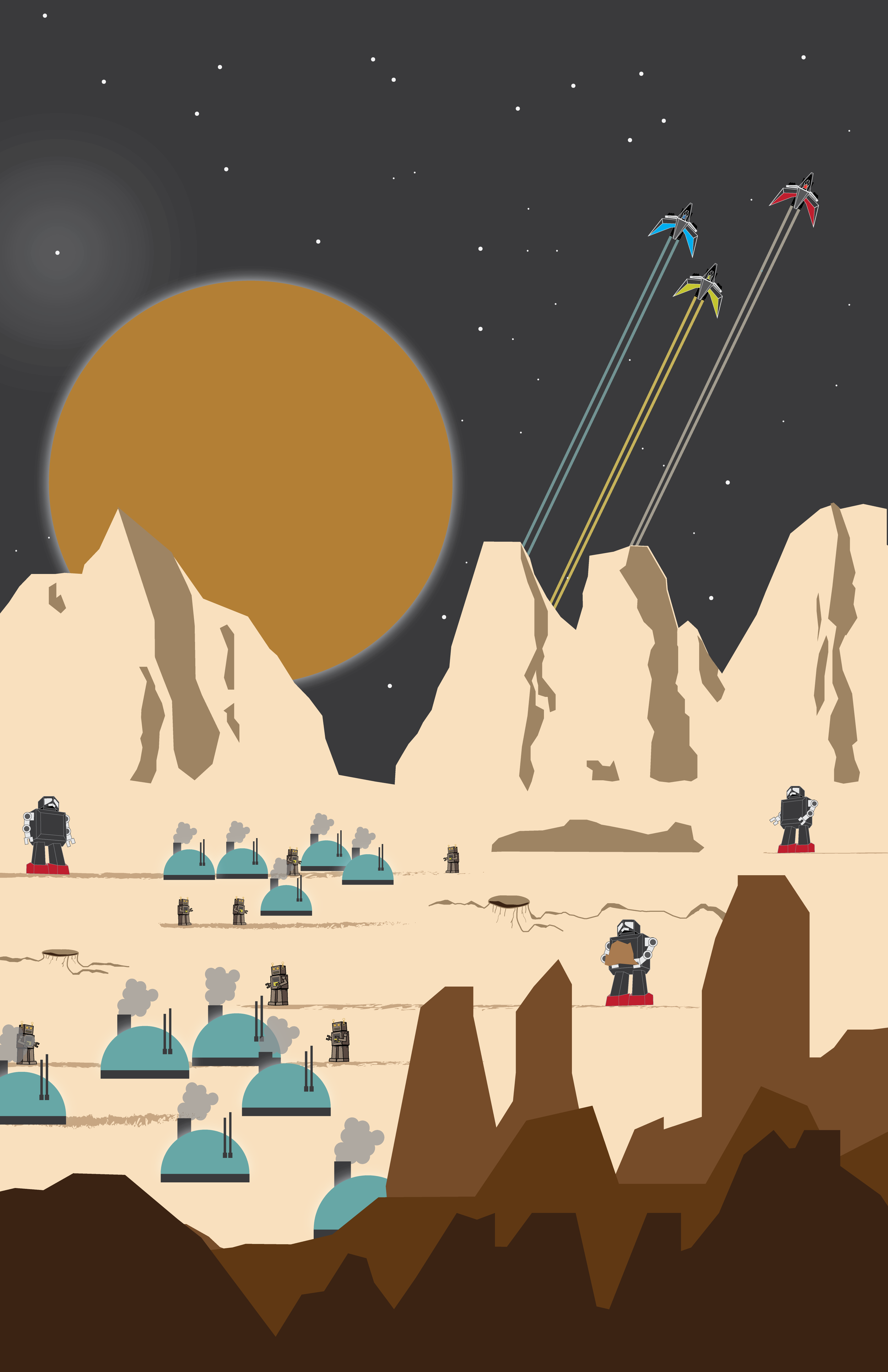 Colonize - Future colonization of planets will not be easy. However, with the help of robots the future of expansion is possible.