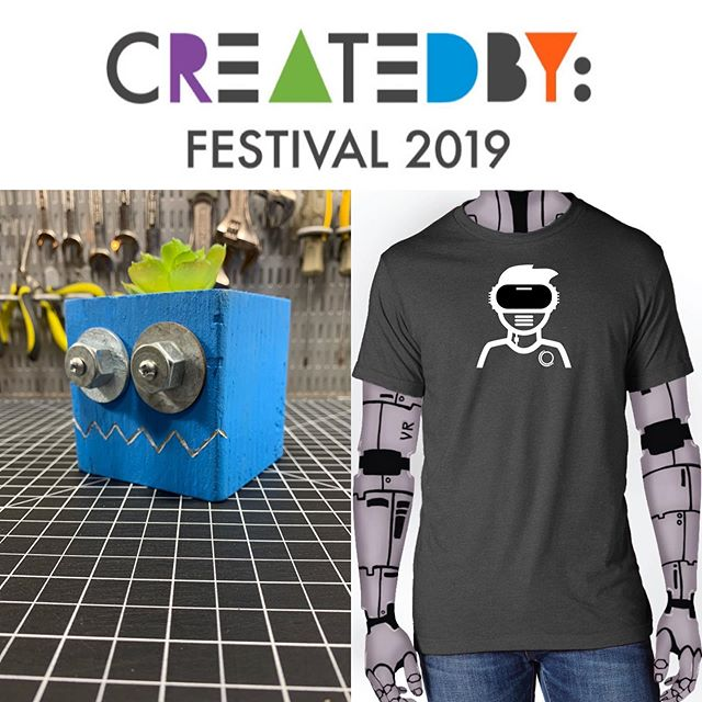 Tomrrow I am heading to Boston for the Created By Festival at the Children's Museum.  ______ #vintagerobot #boston #bostonchildrensmuseum #createdbyfest #handmade #maker #makersmovement #robotshirt #robottee #design #recycledrobot #recycle #reuse #planter #robot #robots