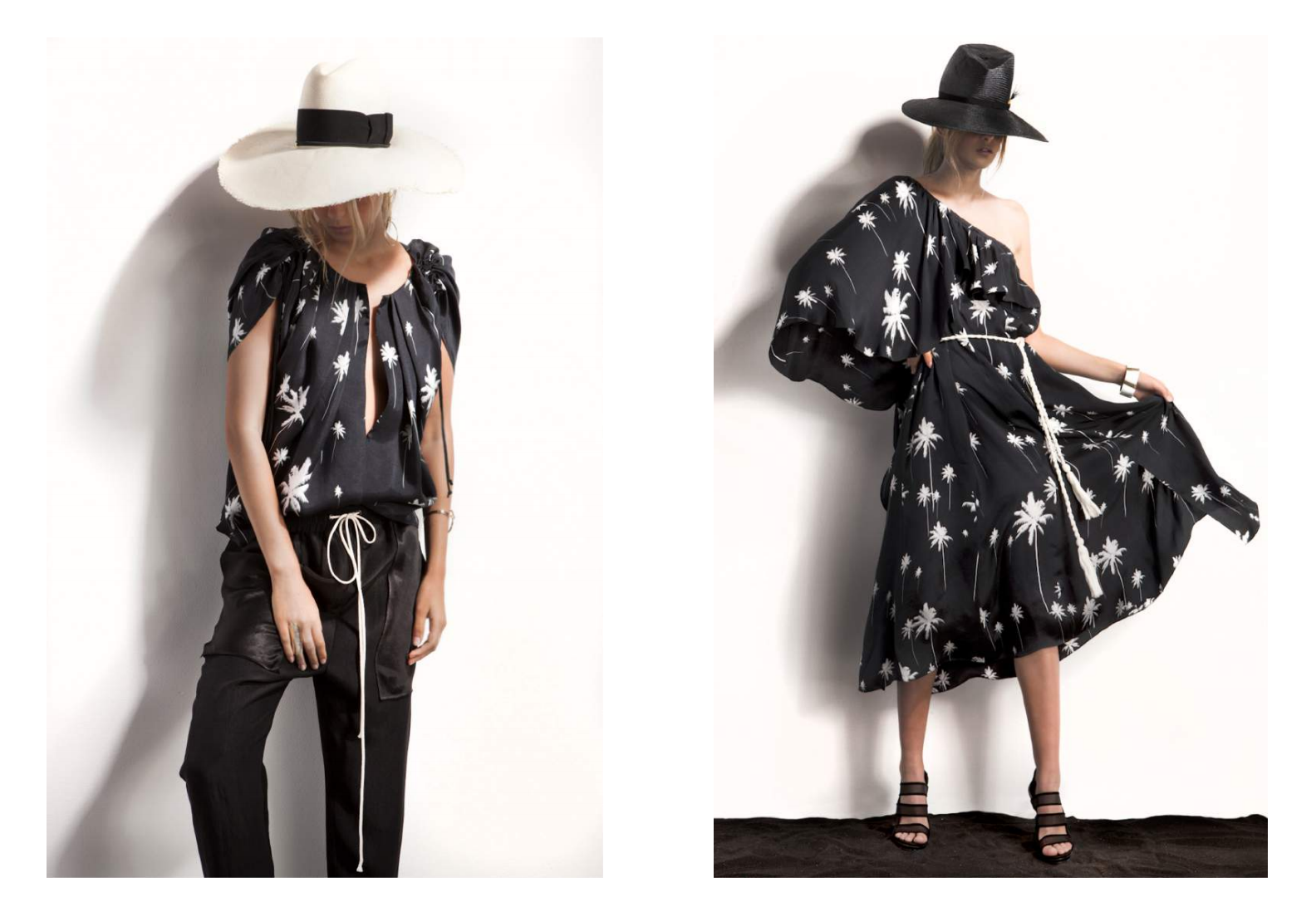 "Faeth Millinery's ""Laurel"" & ""Blue Ridge"" sun hats featured in Charles Warren's Spring/Summer 2017 look book."