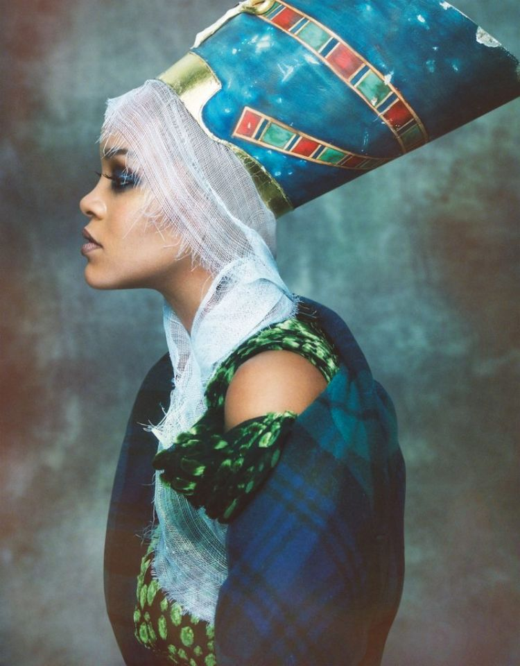 Rihanna photographed by Greg Kadel for  Vogue Arabia, November 2017