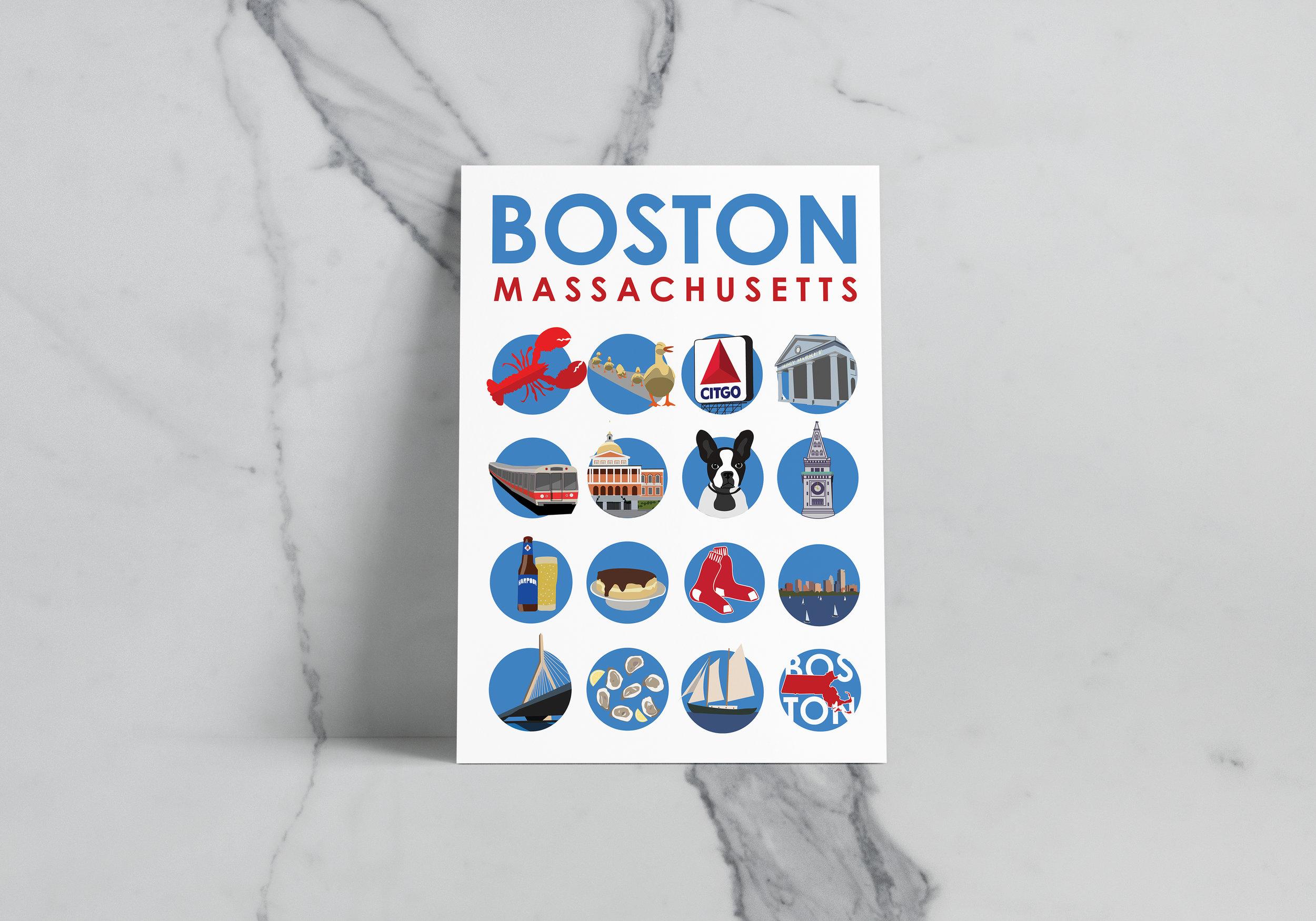 BOSTON ICON SET