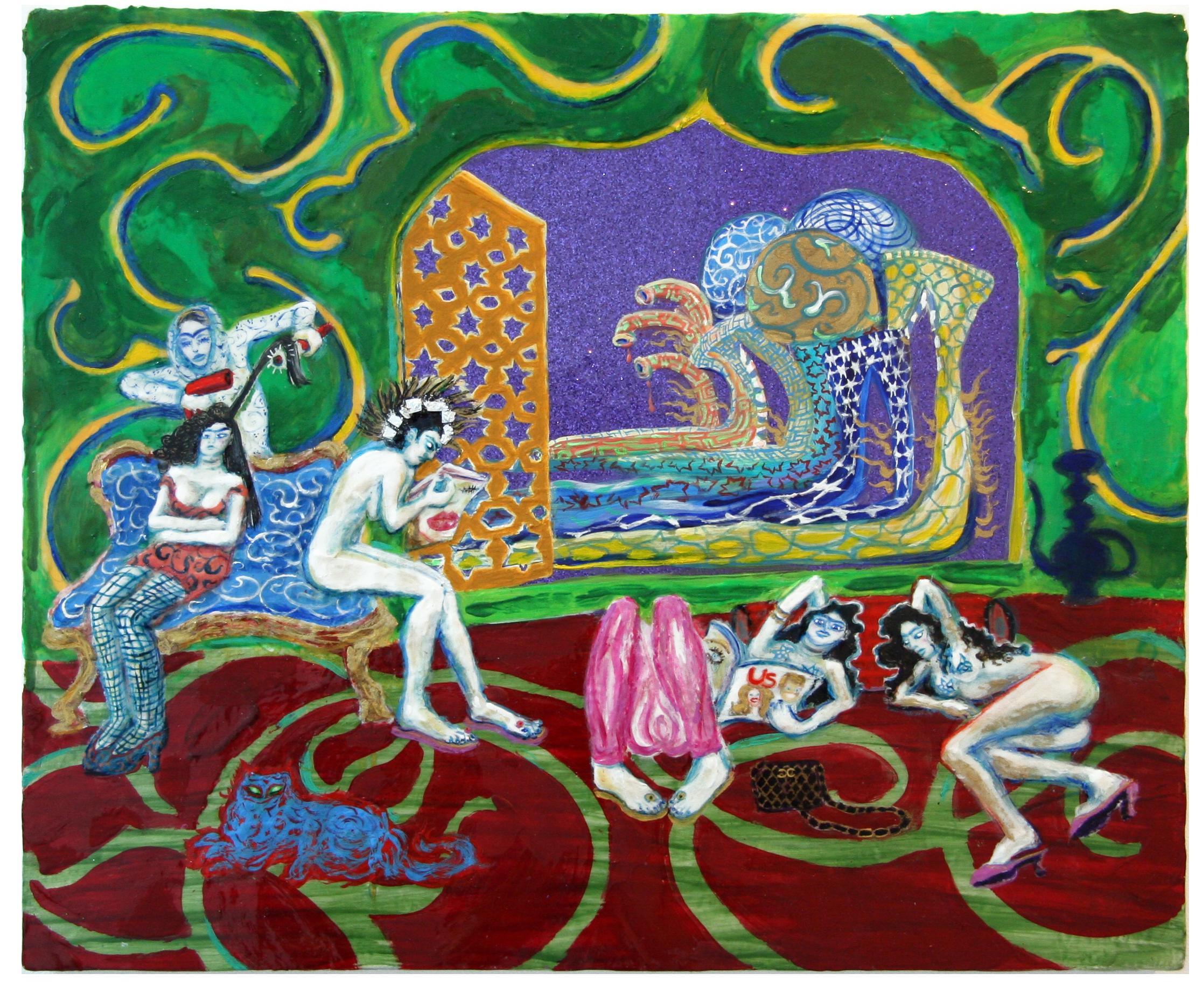 The Persian Vase, 2008, Mixed media on panel