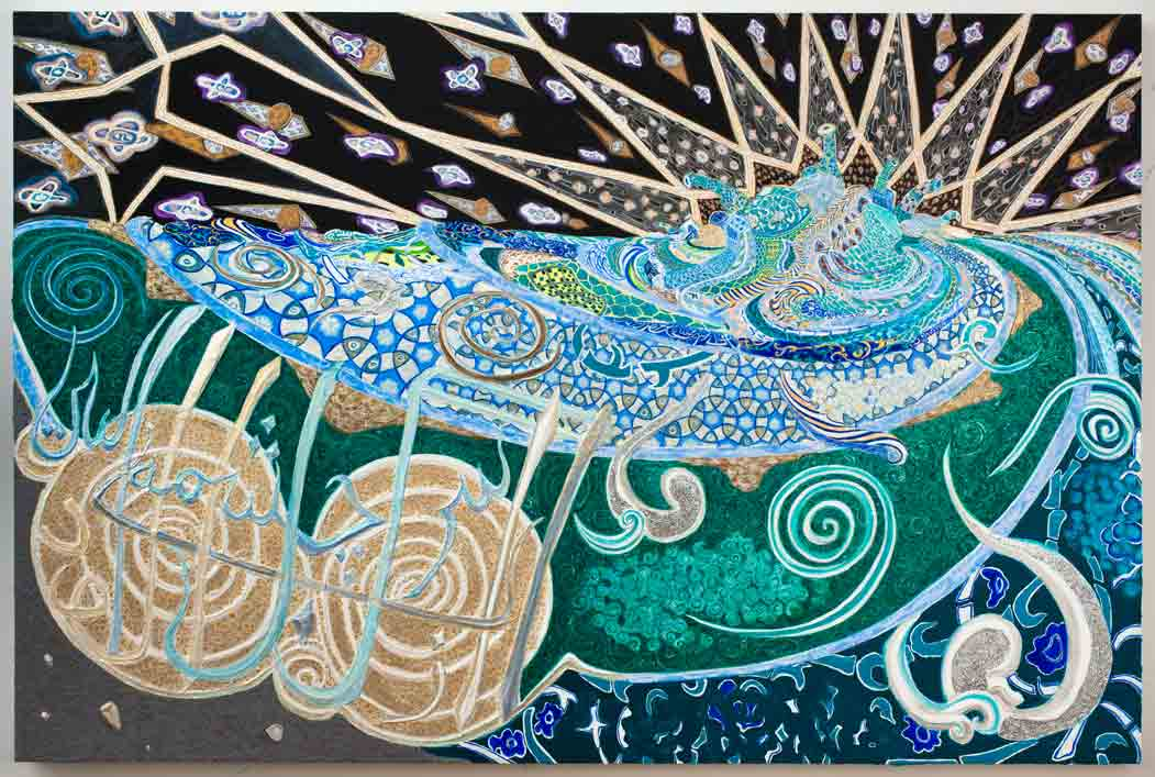 The_Water_Is_Turbid_From_Its_Source.gesso_acrylic_and_glitter_on_canvas_stretched_on_panel.60x90in.2012.FB.jpg