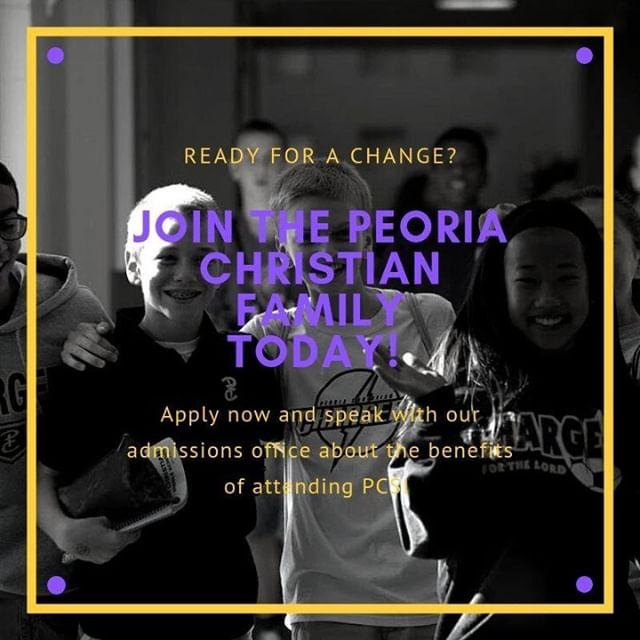 Ready for your change? Contact Karen Hutchins today at khutchins@peoriachristian.org or fill out our application below!  https://www.peoriachristian.org/admissions-home