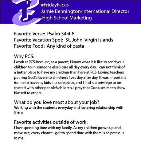 Check out our #FridayFaces! #WearePCS