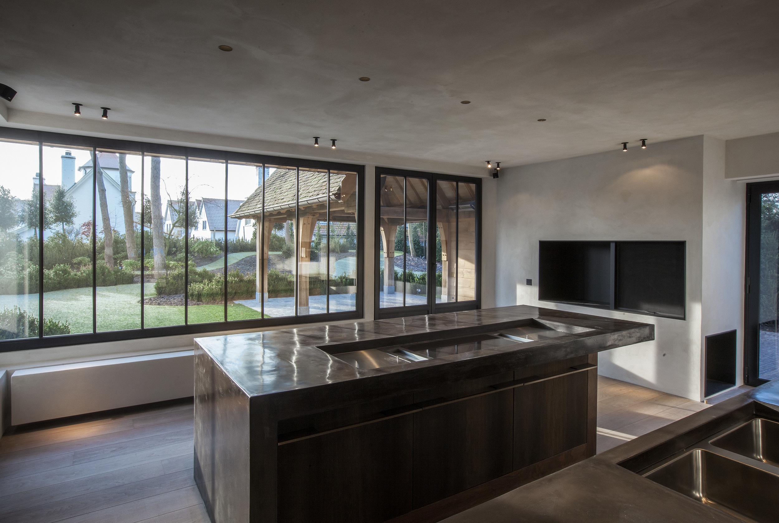 keukenaanrecht:Stuc&Stone kalkglanspleister
