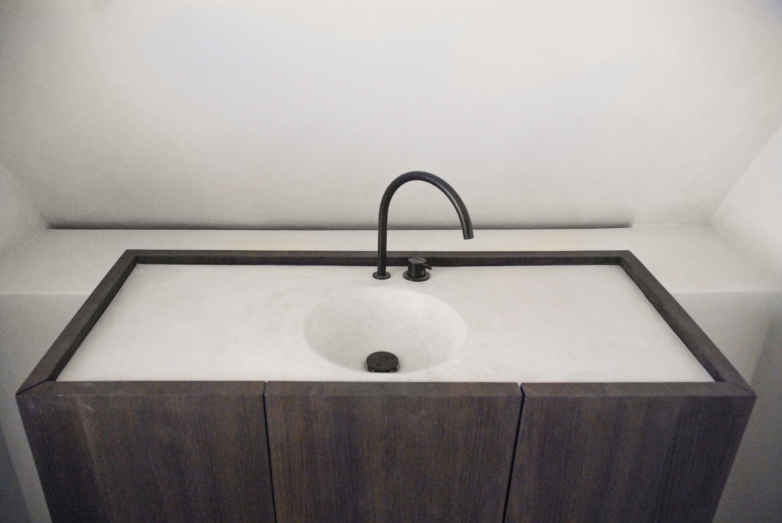 lavabo op maat:Stuc&Stone kalkglanspleister