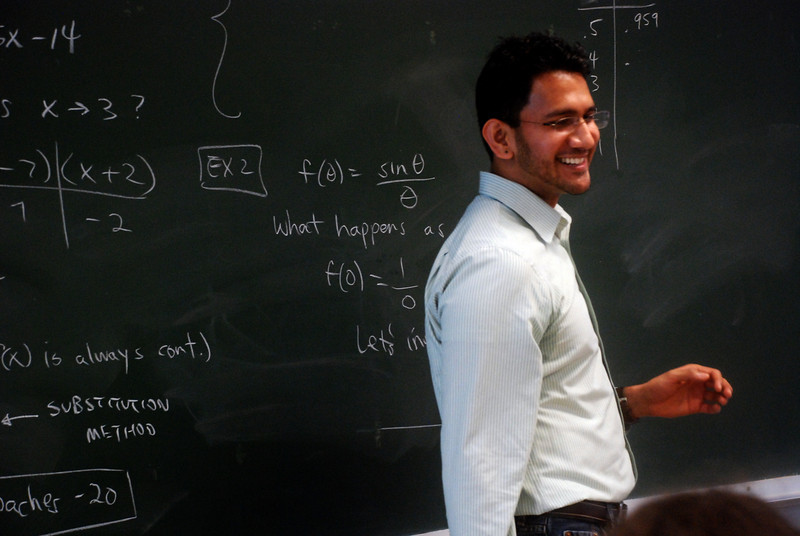 Achyut teaching Calculus.