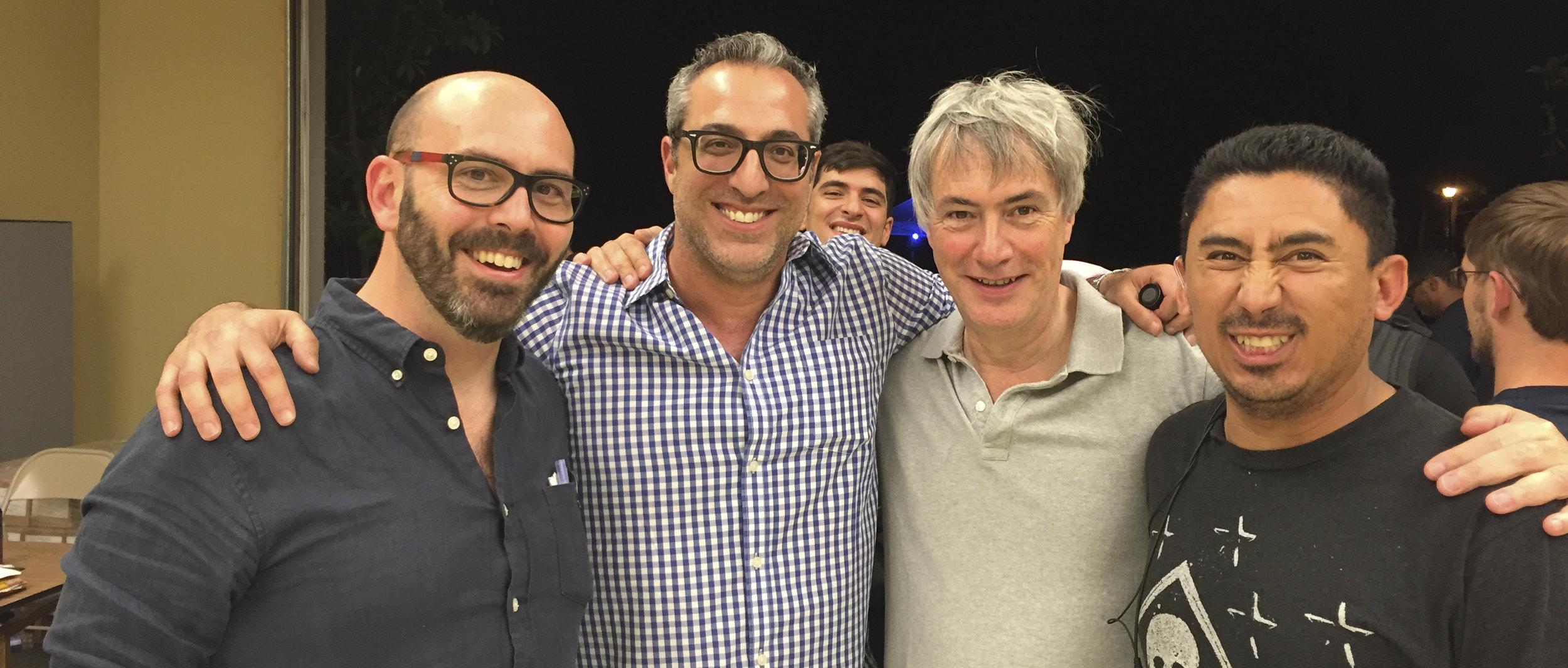 "Director Jesse Gustafson, Producers Rick Benattar & Nigel Thomas, 1st AD Eric ""Z"" Zaragoza"