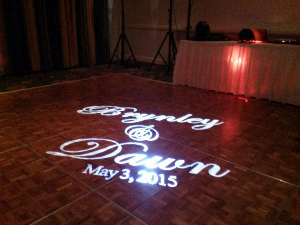 Projected Names on Dance Floor