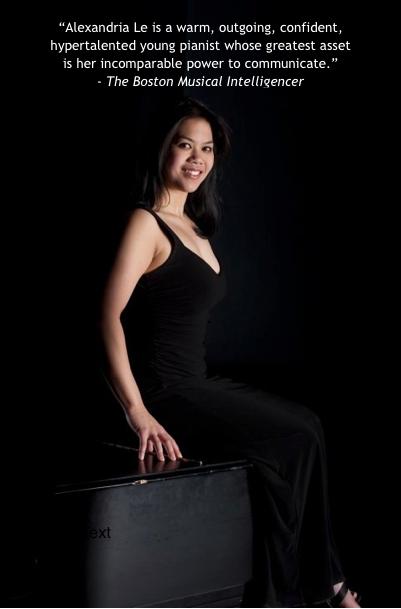 Alexandria Le, pianist (Photo: Laura Vanags)
