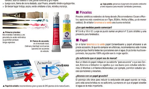 Guía de Materiales - Una ayuda completa para tus primeros pasos en la acuarela :)