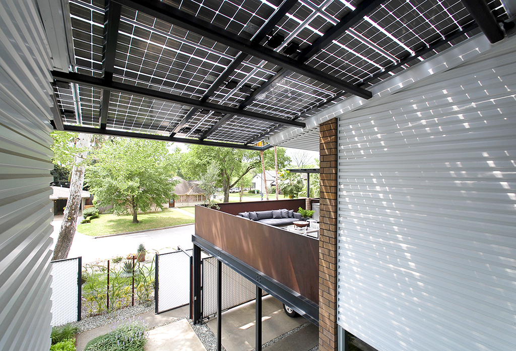 solar roof entry