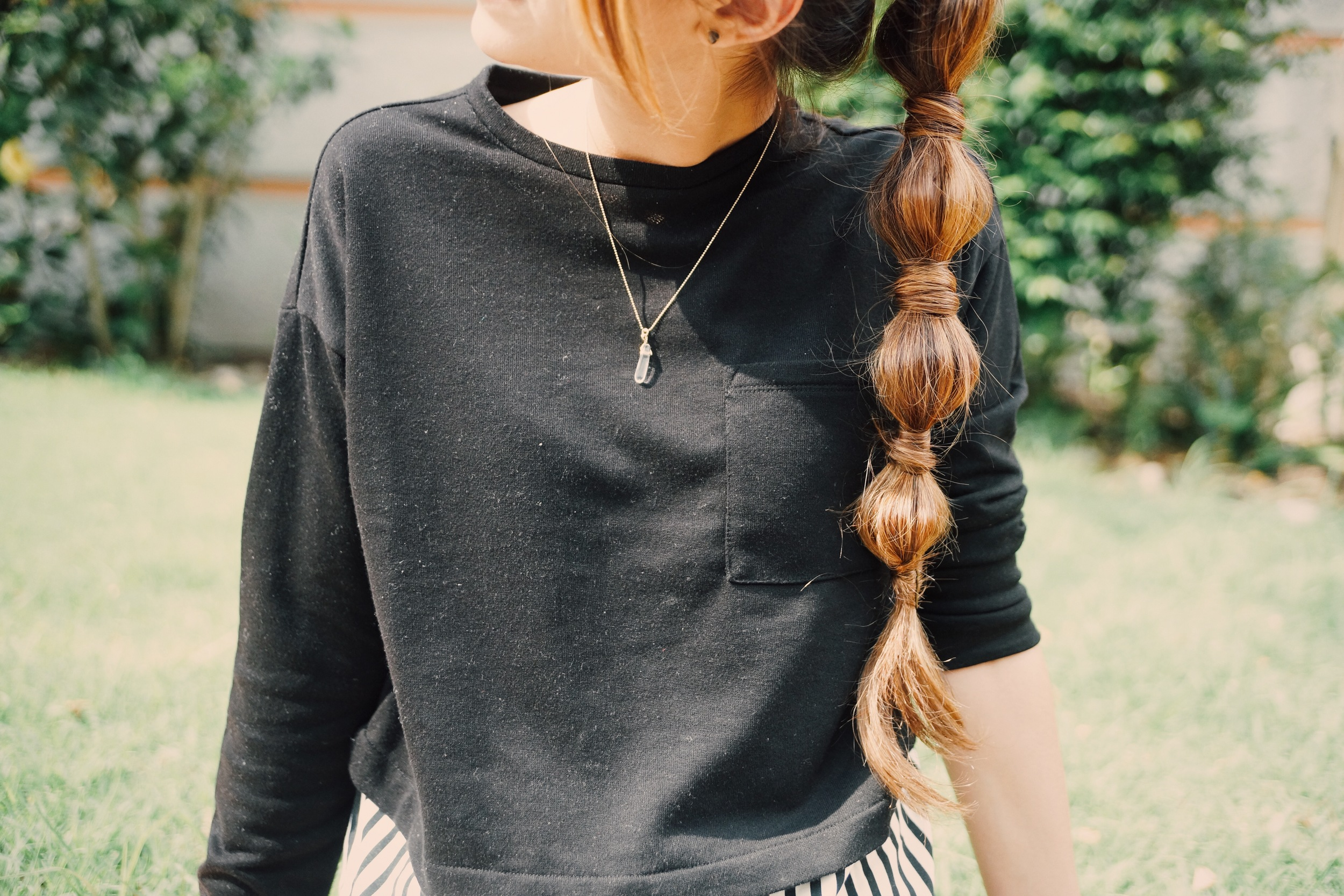 Peinado de burbujas.
