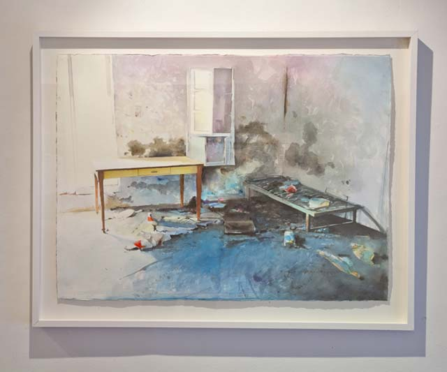 "Håkan Lager: ""Abandoned House, Crete"". Aquarelle, 68 x 87 cm"