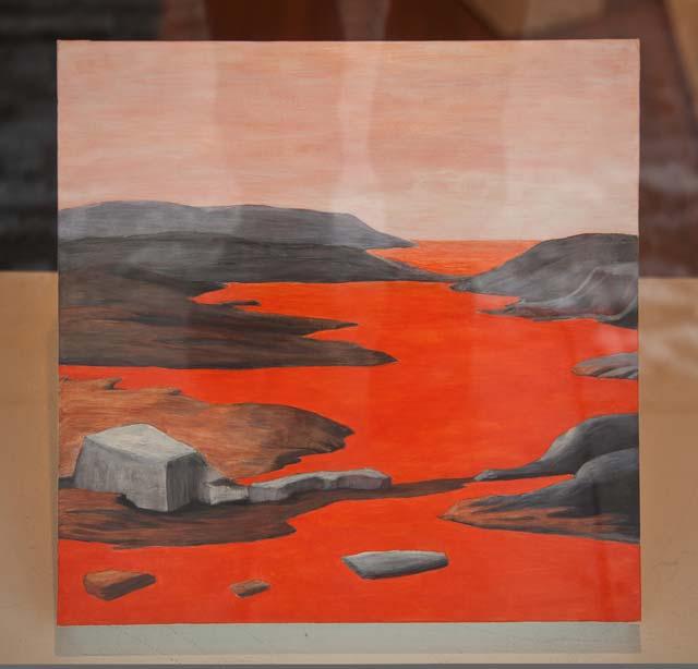 "Mia Vendel: ""Strada"". Acrylic on canvas, 37 x 37 cm"
