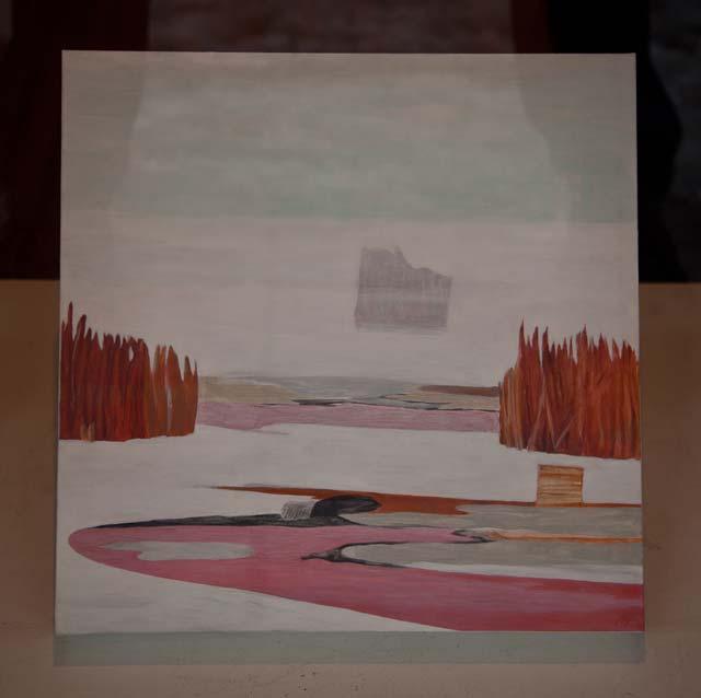 "Mia Vendel: ""Hole in the Ice"". Acrylic on canvas, 37 x 37 cm"