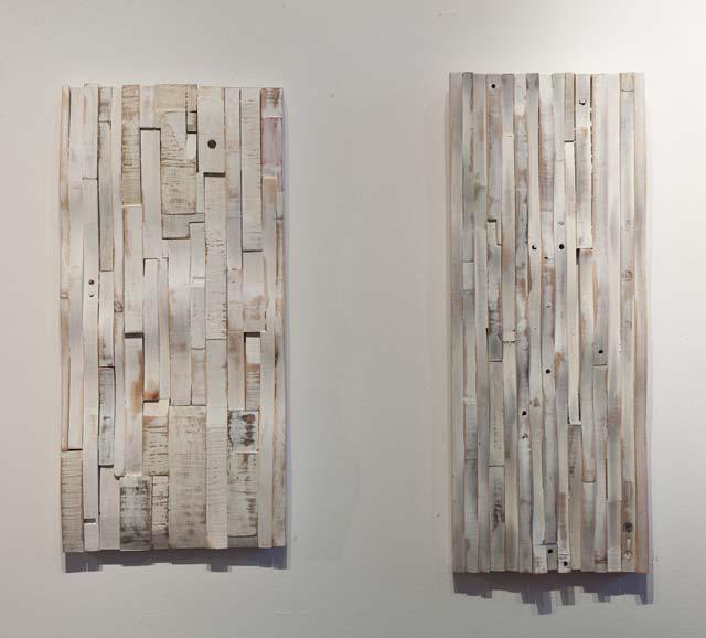 """Mikael Fare: """"Prelude I"""". Wood, 31,5 x 65 cm. """"Prelude II"""", 28 x 71 cm"""
