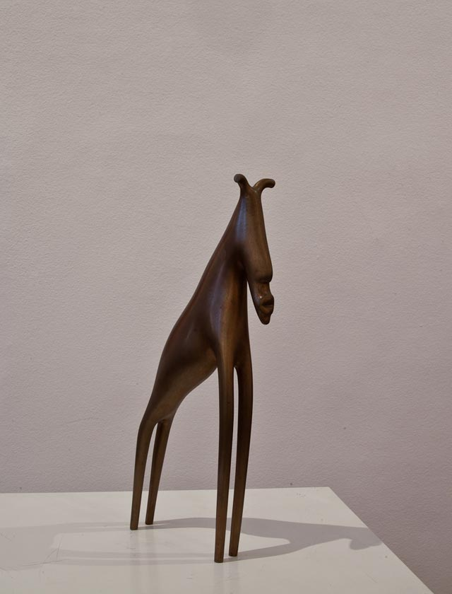"Ragnhild Alexandersson: ""Elk"". Bronze, 11 x 25 cm"