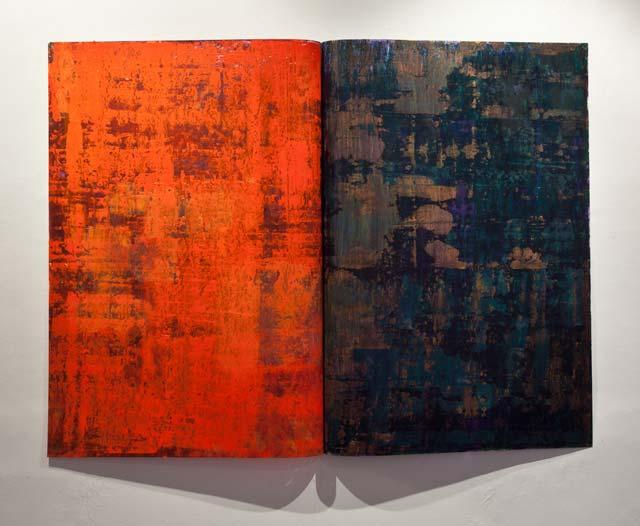 "Thomas Magnusson: ""Syntes"". Oil on acrylic plastic, 100 x 133 cm"