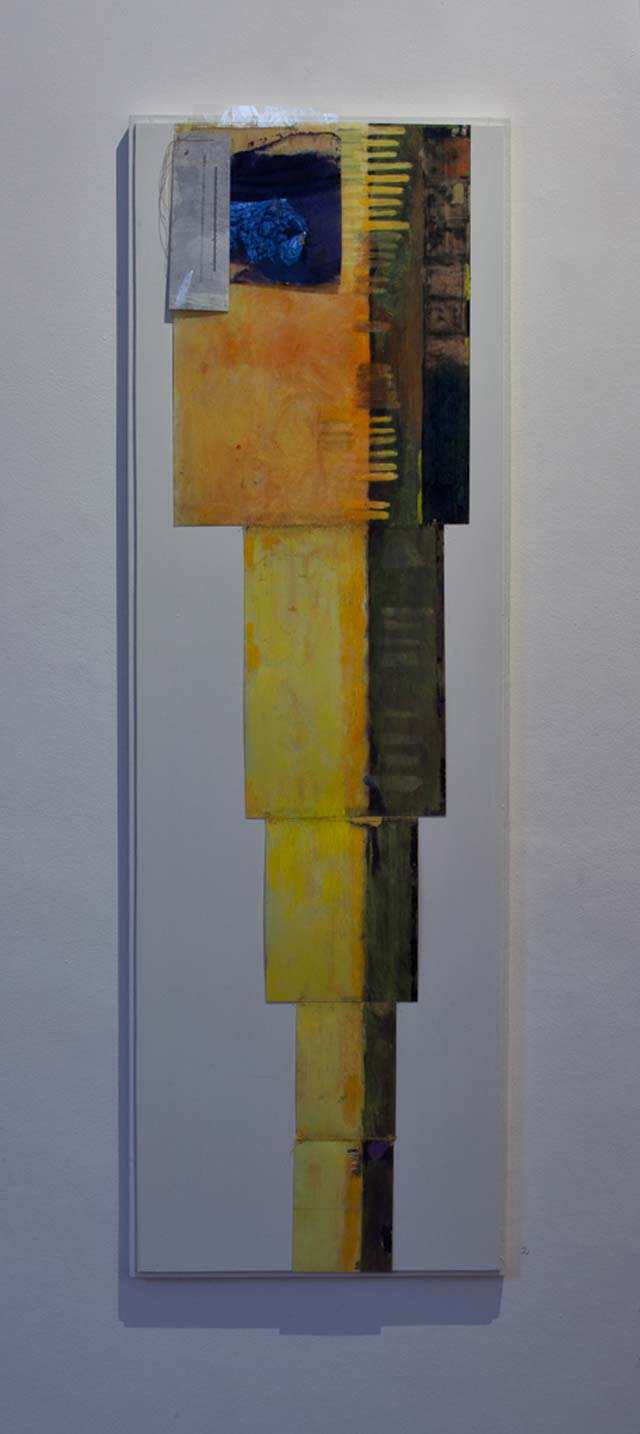 "Thomas Magnusson: ""One of many attempts with the night"". 40 x 122 cm"