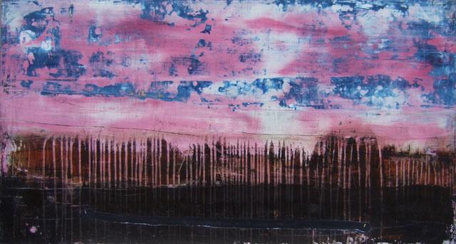"""helene randin: """"No Title 2"""". Oil on board, 64 x 120 cm"""