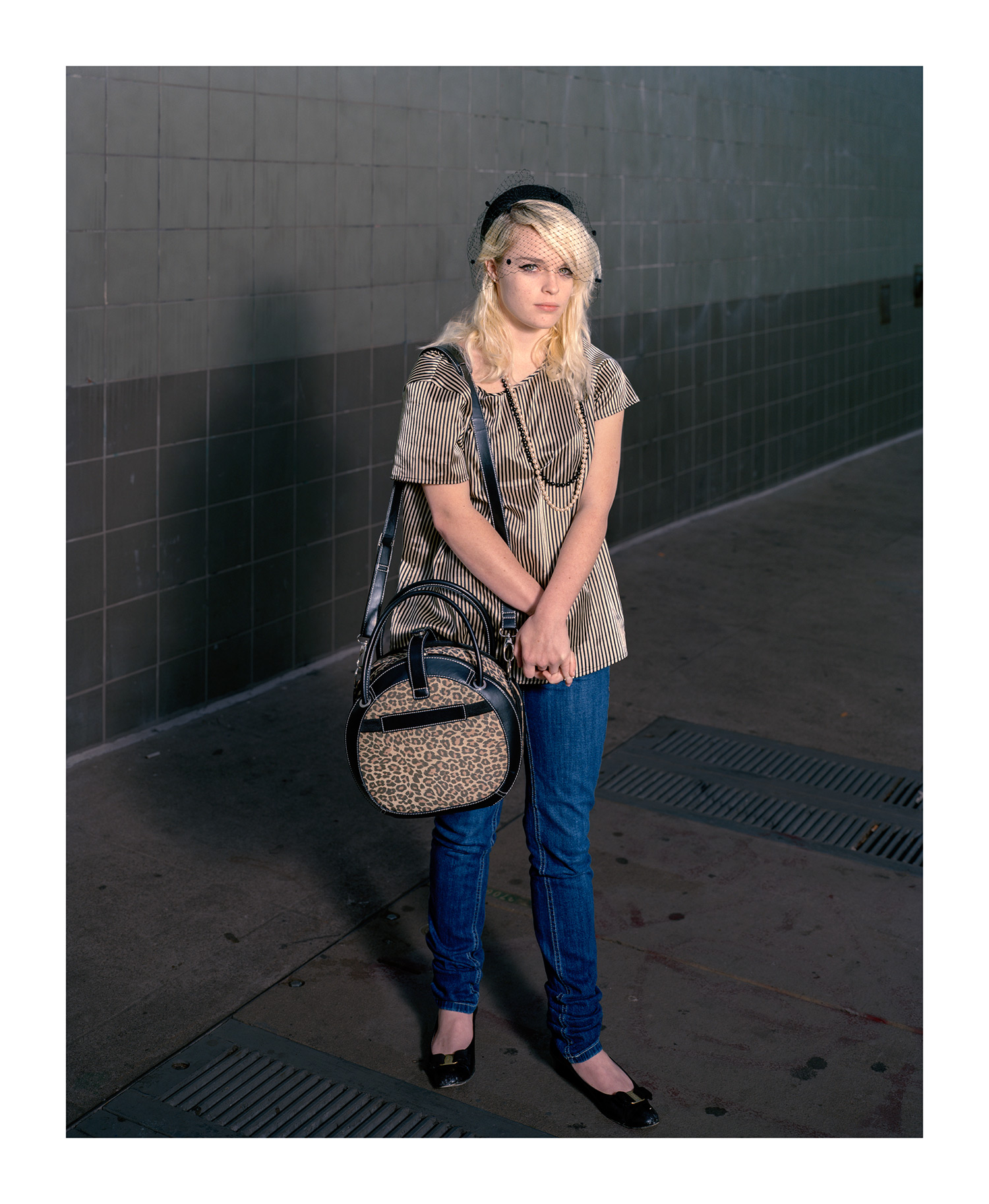 Girl with the Leopard-Skin Bag, San Francisco