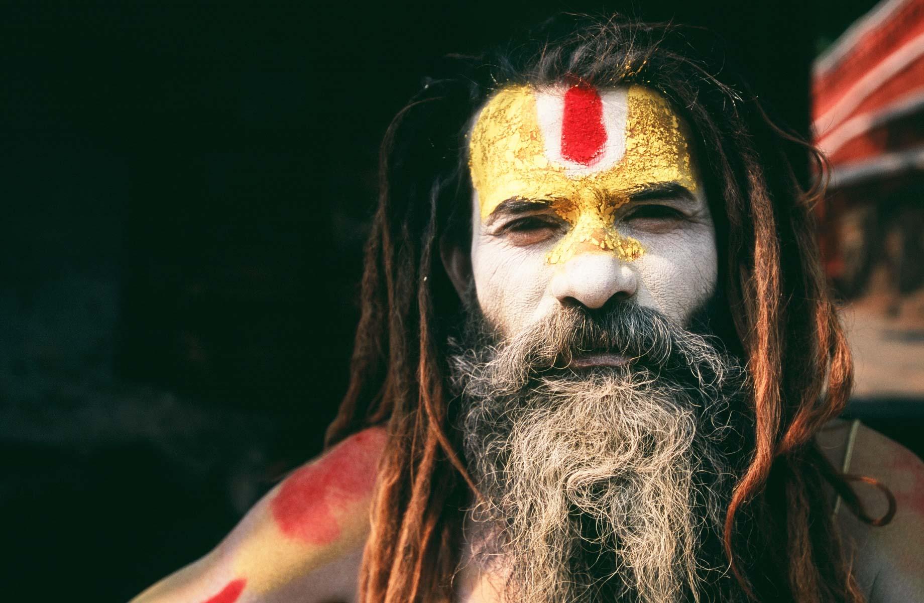 Tim Losch - Portrait of a Sadhu, Nepal