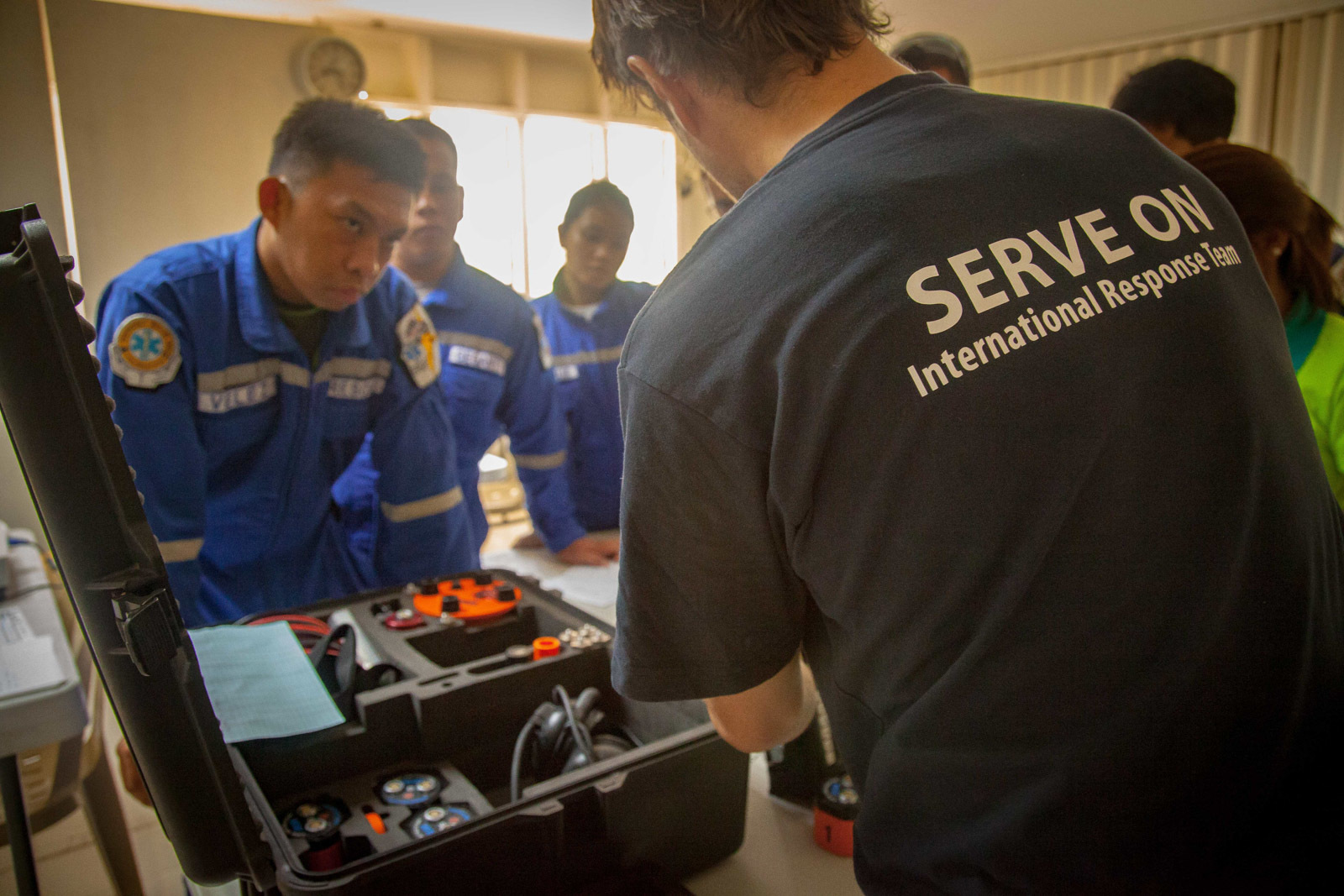 Technical equipment instruction for the local emergency responders.