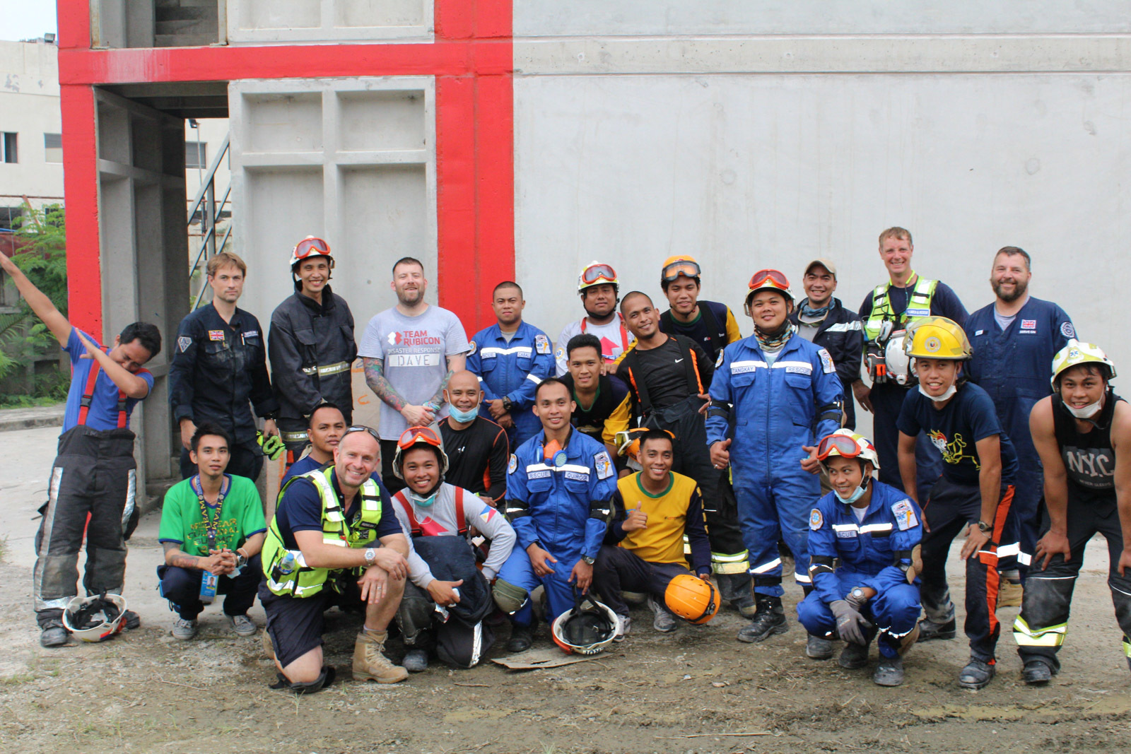 The Serve On instructors with the local responsders.