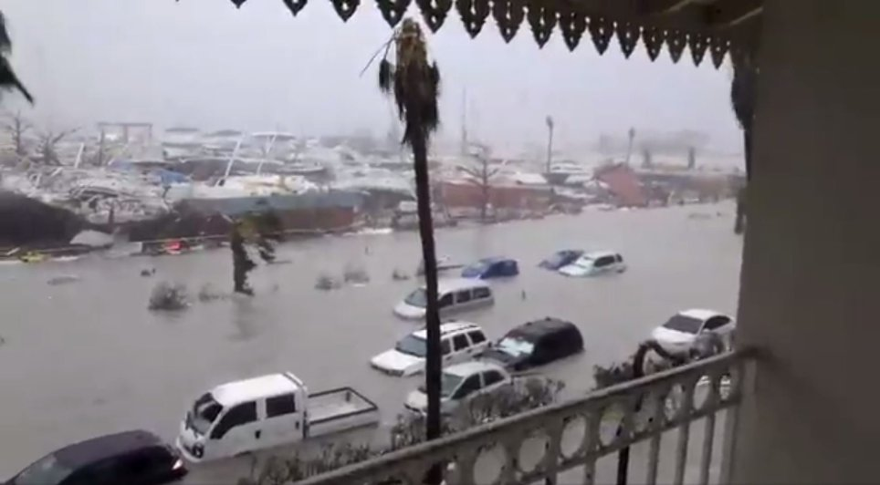 Flooding on St Martin. Photo: Rinsy Xieng/Twitter