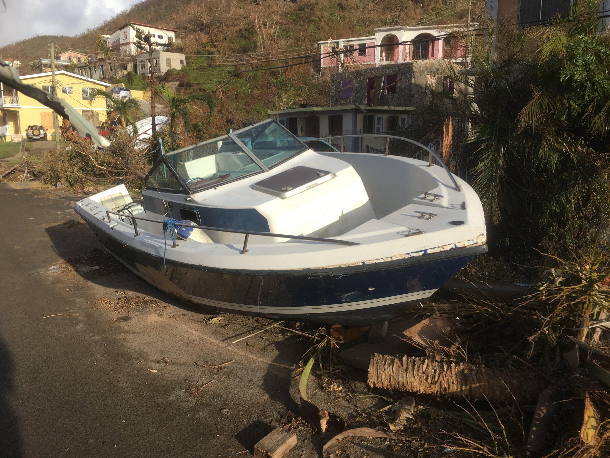 Speedboat in road Tortola.JPG
