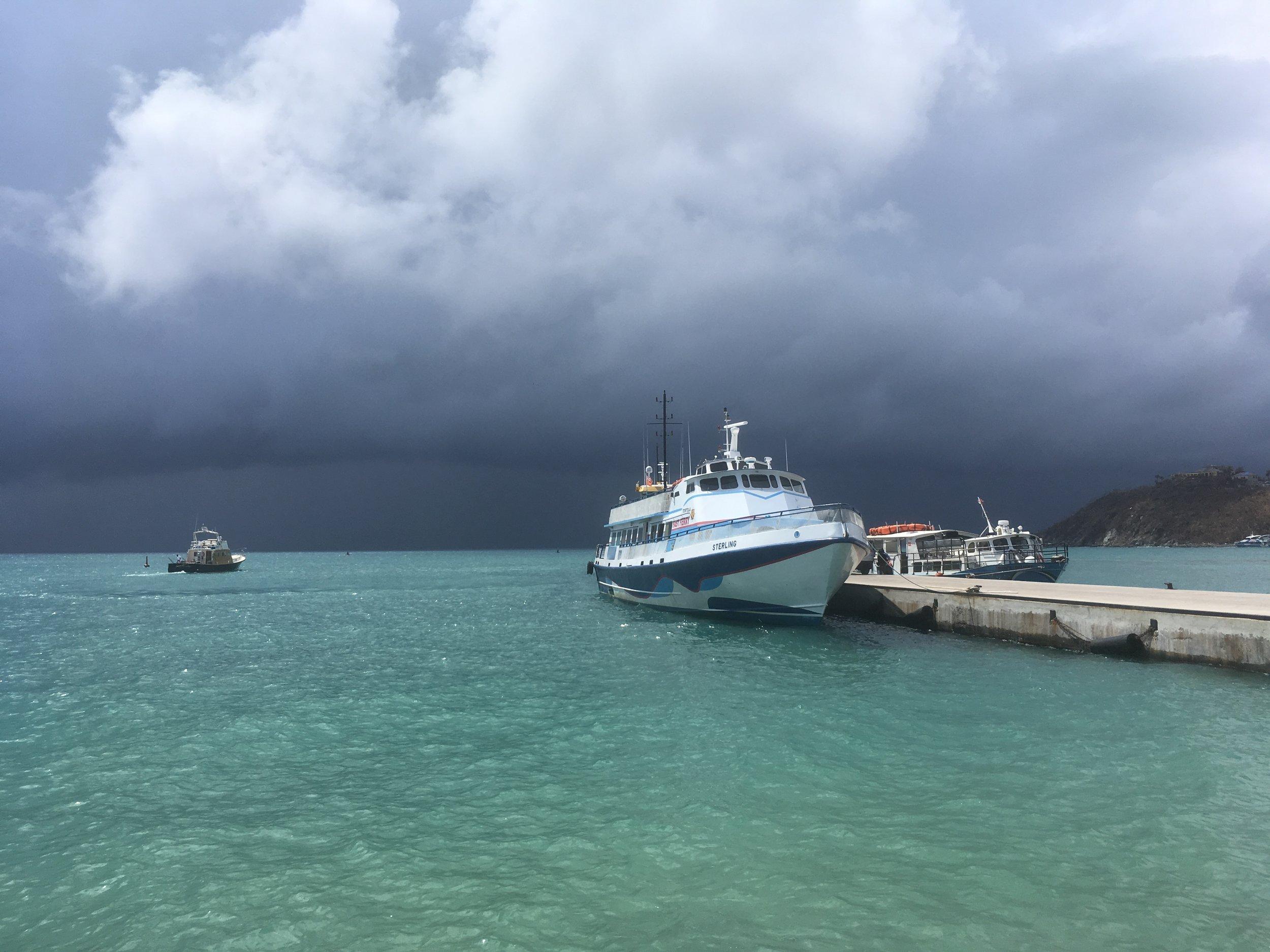 Storm clouds brew over Virgin Gorda