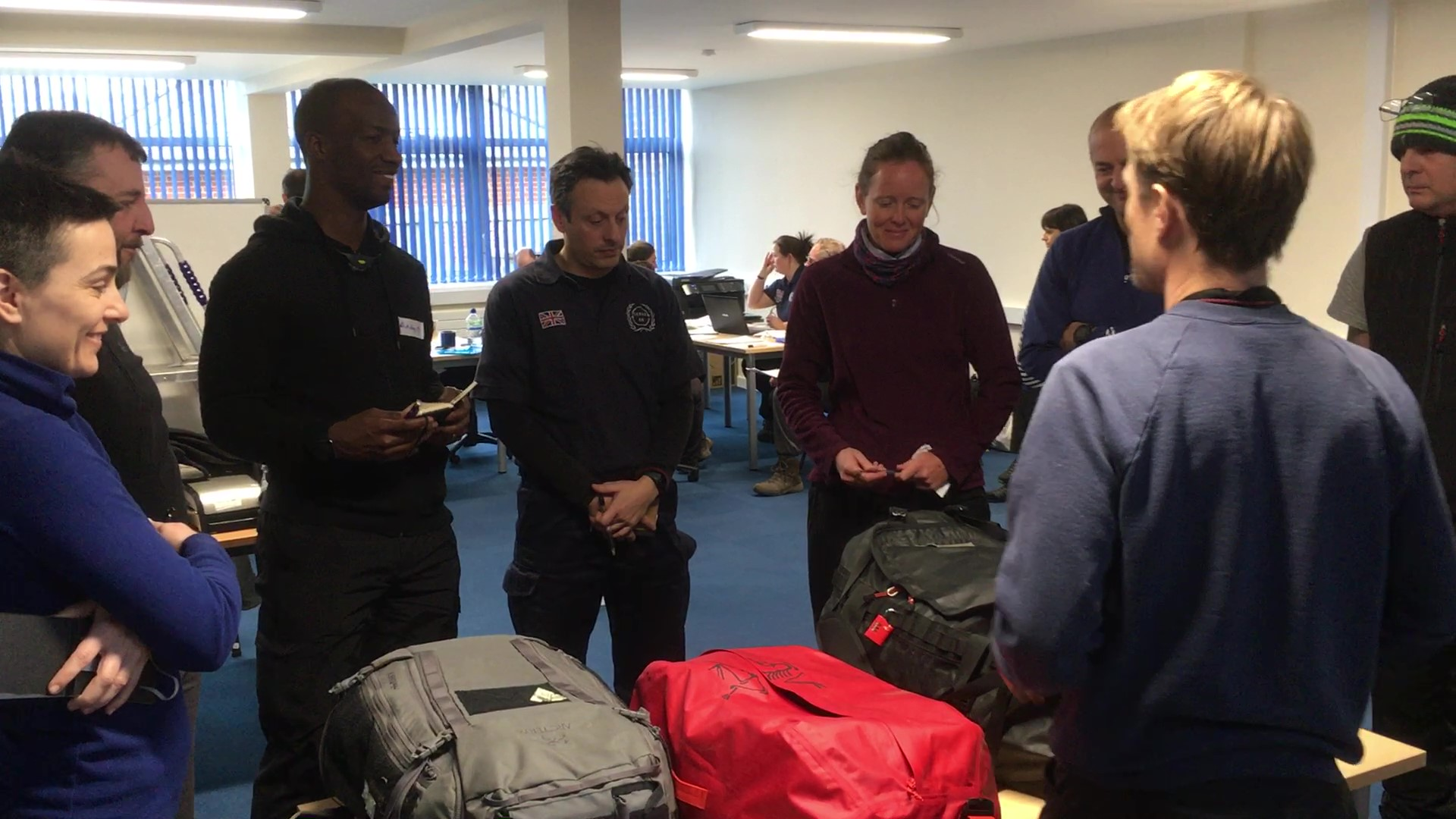 Rab explains some of the kit needed by Serve On operational members.