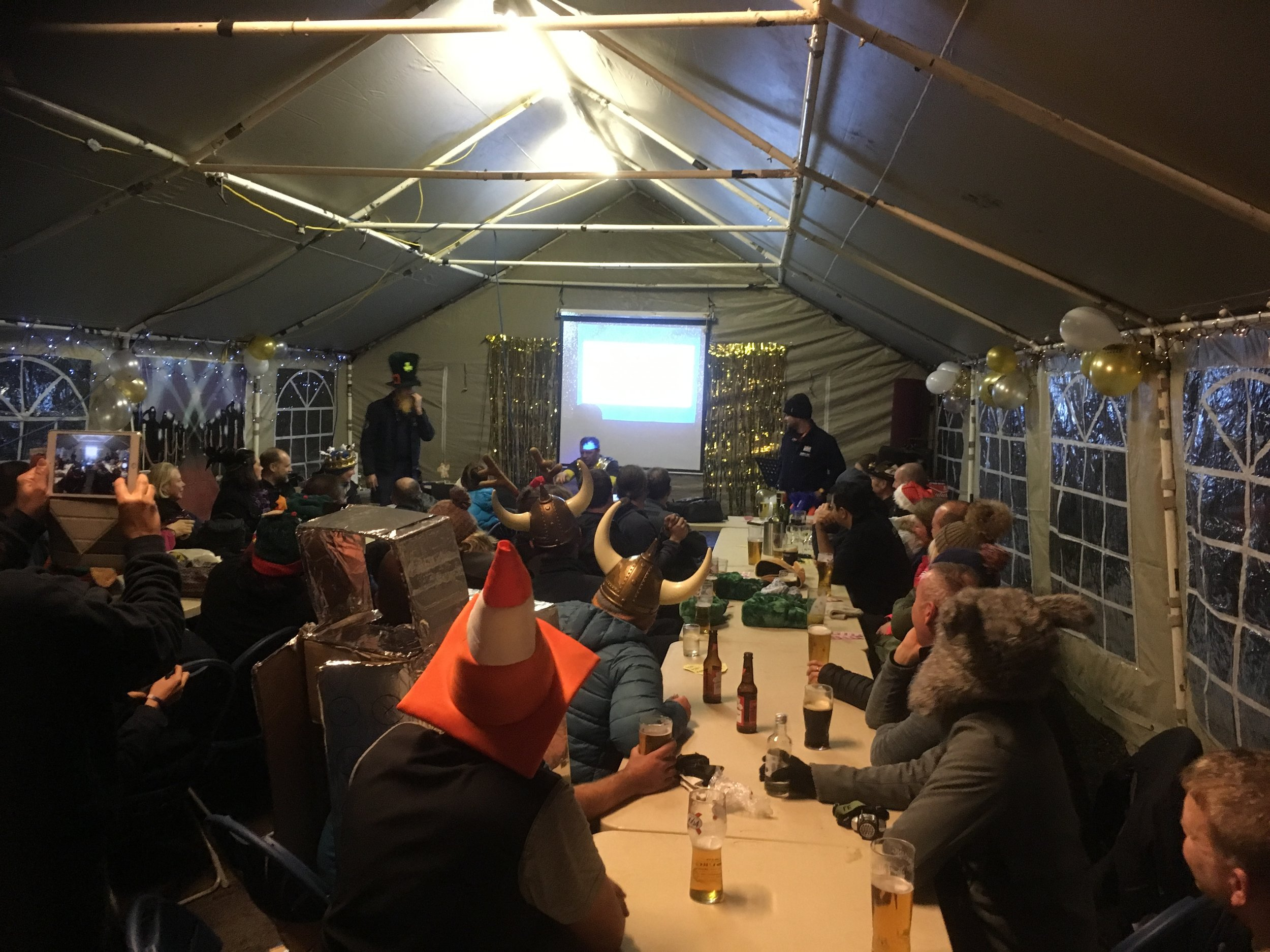 Party time as volunteers let their hair down for the Christmas party and annual awards.