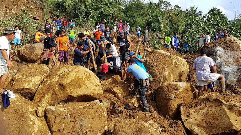 Landslides in the Philippines just before Christmas. Photo courtesy of Philippines National Police Regional Office.