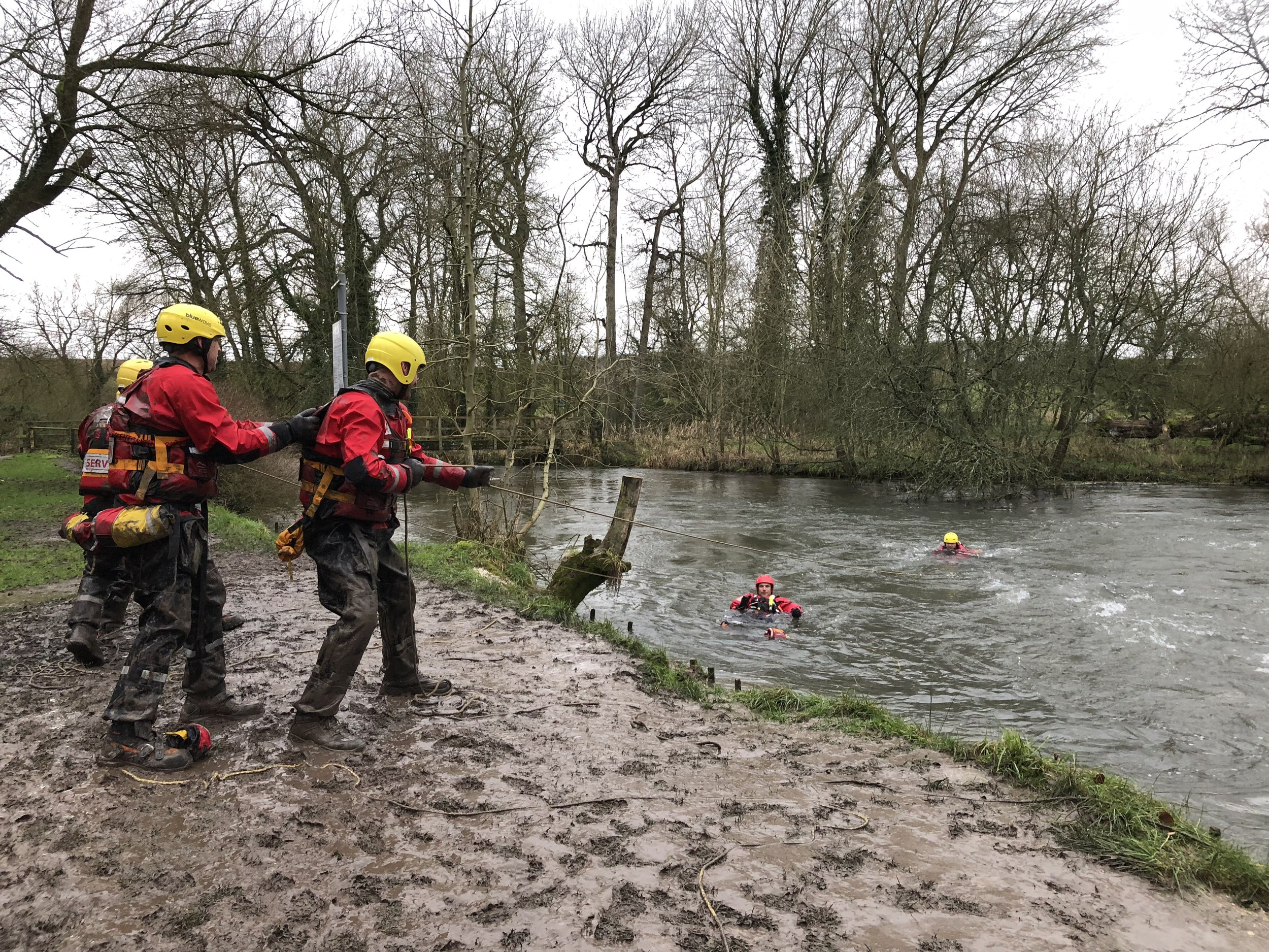 Serve On humanitarian response charity's new search and rescue volunteers start their swift water rescue training.