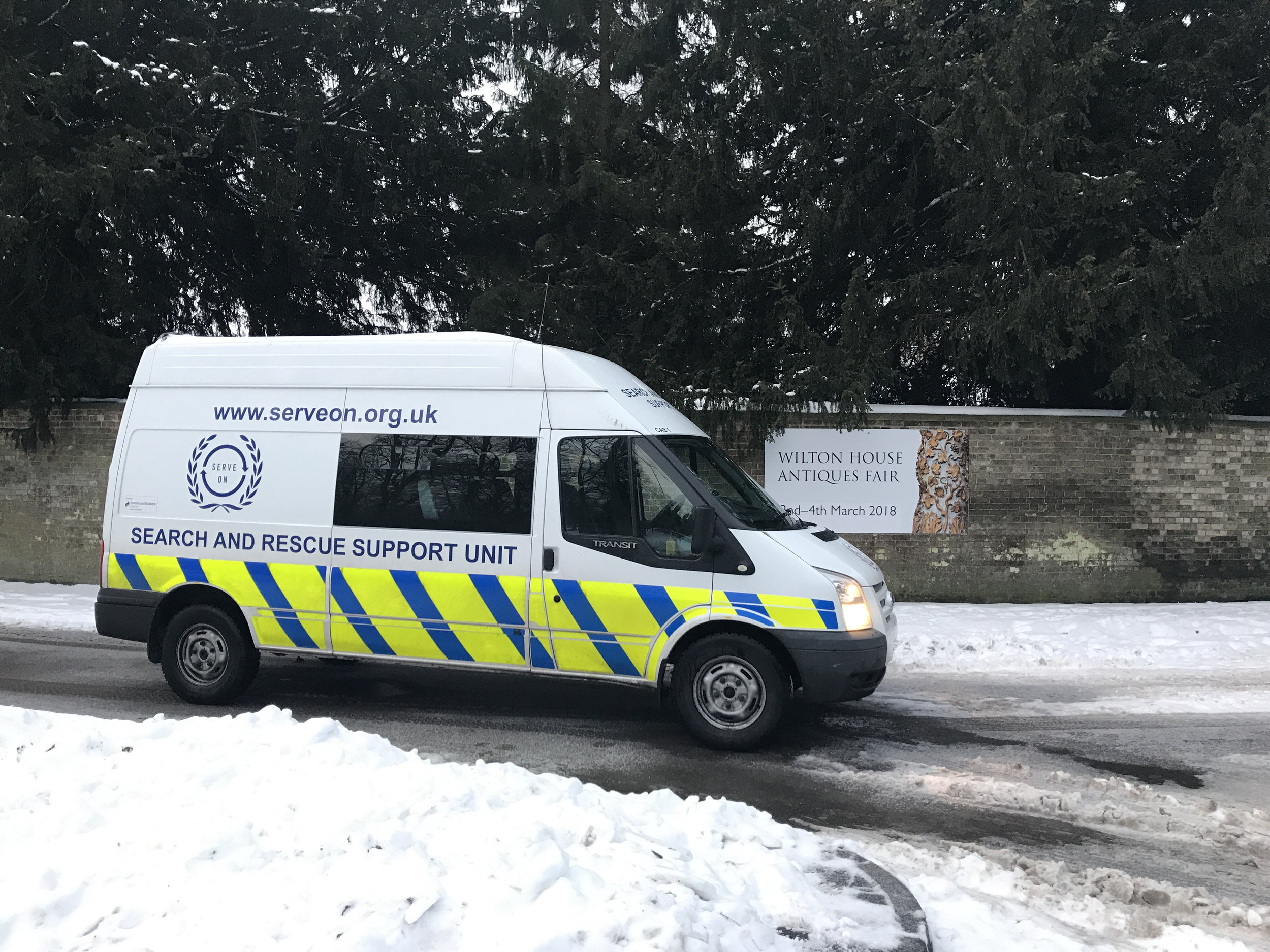 A Serve On crew on stand-by for the next tasking from Dorset and Wiltshire Fire And Rescue Service control, in our crew cab supplied thanks to the SSE Community Resilience Fund.